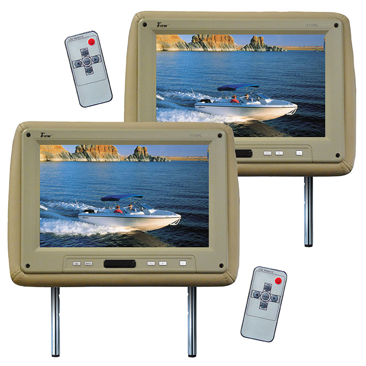 """MONITOR 11.2"""" WIDESCREEN TAN IN HEADREST;TVIEW;REMOTE"""