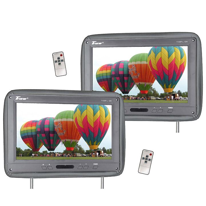 "Tview 12.1"" Headrest Monitor IR Transmitter Remotes Gray Pair"