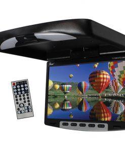 Tview 13'' Flipdown Wide Screen W/Built in DVD Player-Black
