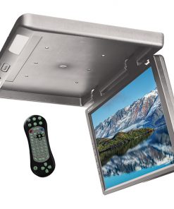 """TVIEW 17.3"""" FLIP DOWN WITH BUILT IN DVD IR & FM MODUL GRAY"""