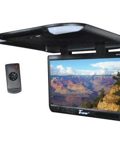 "Tview 25"" TFT Flipdown Monitor Built in IR Remote Light Black"