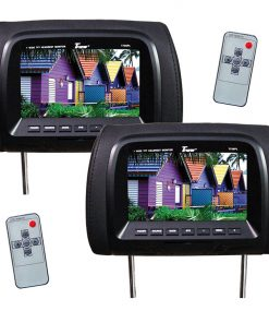 "Tview 7"" TFT/LCD Car Headrest and MonitorPair Black"