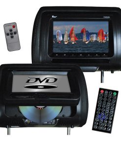 "Tview 7"" In Headrest Monitor with DVD Player Built in Speakers Remote Black"