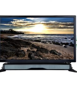 AXESS 24 In HD TV DVD combo w/External Soundbar Speaker SD Card ACDC Power HDMI port Remote