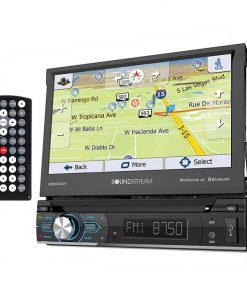 "Soundstream Single Din 7"" Flipout Touchscreen AM/FM/CD/DVD/BT Mirrorlink"