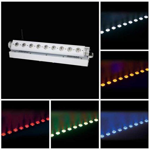Epsilon 9-15 Watt RGBWA Light Bar White Haousing Battery Powered