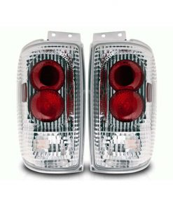 Winjet 97-02 Ford Expedition Altezza Tail Lights - (Chrome / Clear)