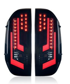 Winjet 2014-16 Toyota Tundra LED Tail Light - Black / Smoke