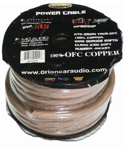 Orion XTR 100% Copper Wire 0 Gauge 50 ft Frost