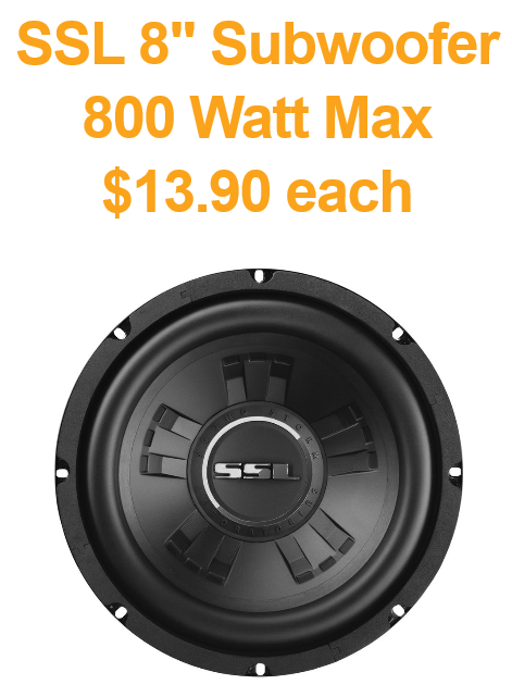 subwoofer wholesale specials